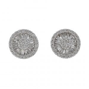 earrings round diamonds 1