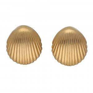 earrings gold shell 1