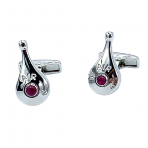 Dunhill 925 Sterling Silver Air Gauge Lever Pink Stone Mens Cufflinks 1