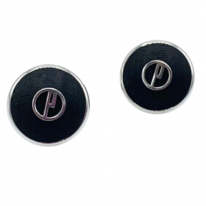 Dunhill Round Mate Wood D Logo 925 Sterling Silver Mens Cufflinks 2