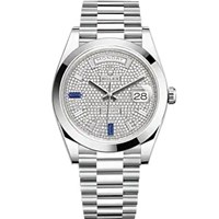 Thumb 22820620PRESIDENT20PAVE20DIAMOND20BAGUETTE20AND20SAPPHIRE 1