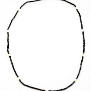 100 Authentic TiffanyCo Ziegfeld Black Spinel Bead Pearl Necklace 20 124002331820