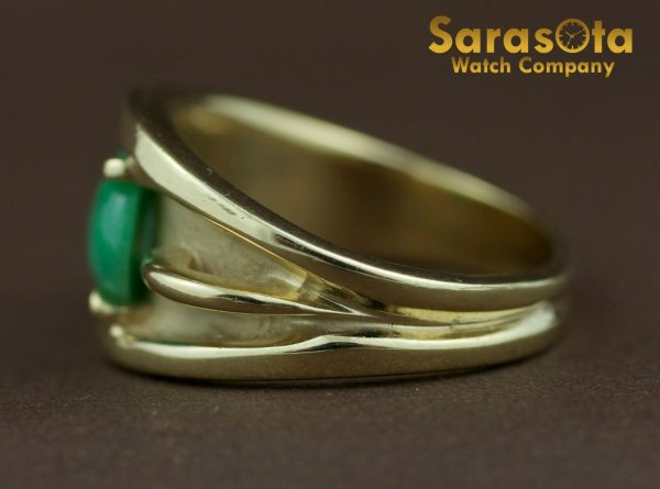 14k Yellow Gold Oval Jade Solitaire Womens Ring Size 625 131698551760 6