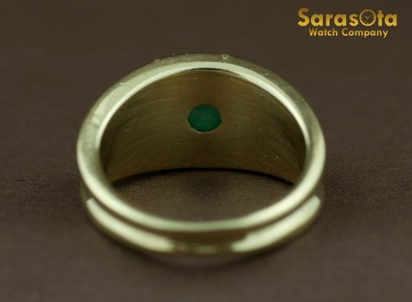 14k Yellow Gold Oval Jade Solitaire Womens Ring Size 625 131698551760 9