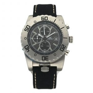 Adee Kaye AK3520 M Chronograph Titanium Steel 43mm Textile Quartz Mens Watch 133664495580
