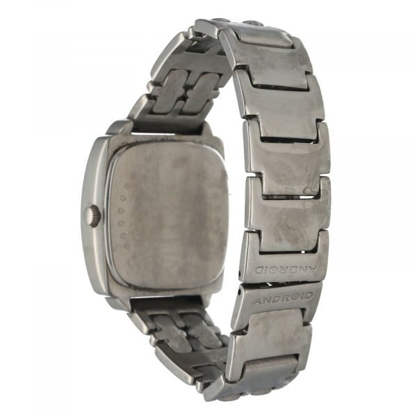 Android USA Stainless Steel Cushion 34mm Silver Arabic Dial Quartz Mens Watch 114656862850 3