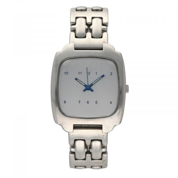Android USA Stainless Steel Cushion 34mm Silver Arabic Dial Quartz Mens Watch 114656862850