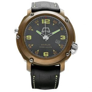 Anonimo Marlin Diver 150 ATM Bronze Steel 50mm Leather Automatic Mens Watch 133448620900