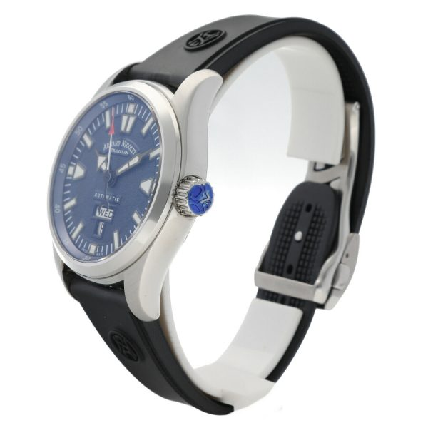 Armand Nicolet 9640M BU G9660 Stainless Steel 43mm Rubber Automatic Mens Watch 133804259650 2