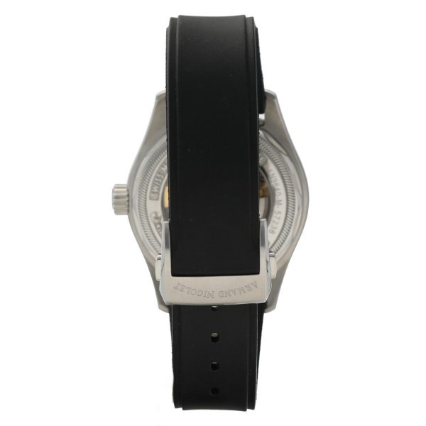 Armand Nicolet 9640M BU G9660 Stainless Steel 43mm Rubber Automatic Mens Watch 133804259650 5