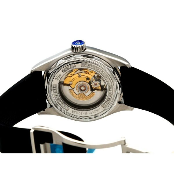 Armand Nicolet 9640M BU G9660 Stainless Steel 43mm Rubber Automatic Mens Watch 133804259650 7