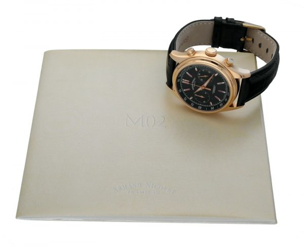 Armand Nicolet AN7144 A Chronograph 18k Solid Rose Gold Automatic Mens Watch 114827309830 11