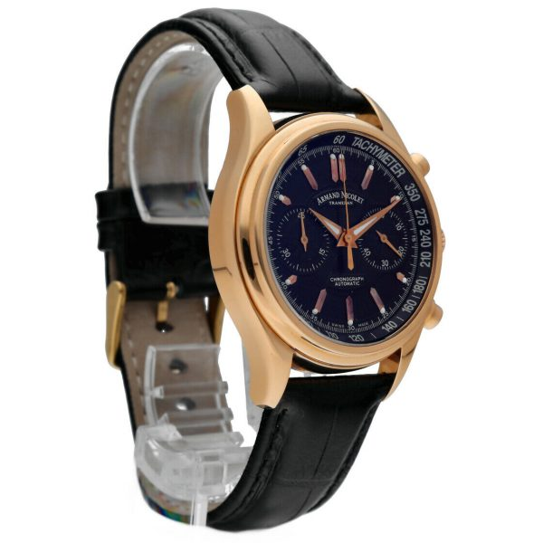 Armand Nicolet AN7144 A Chronograph 18k Solid Rose Gold Automatic Mens Watch 114827309830 4