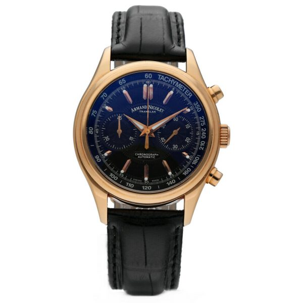 Armand Nicolet AN7144 A Chronograph 18k Solid Rose Gold Automatic Mens Watch 114827309830