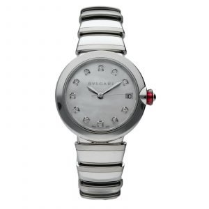 BVLGARI Lvcea 102199 Stainless Steel MOP Diamonds 33mm Automatic Womens Watch 124436214130