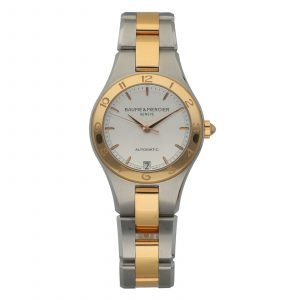 Baume Mercier Linea M0A10073 18k GoldSteel 32mm Silver Automatic Ladies Watch 114663470470