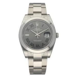 Brand New Rolex Datejust 126300 Gray Green Roman Dial 41mm Steel Wrist Watch 114662698230
