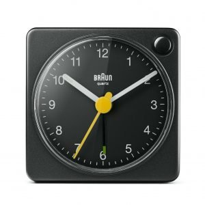 Braun BN BC2XB Black Square Quartz Alarm Classic Travel Clock 114584470200
