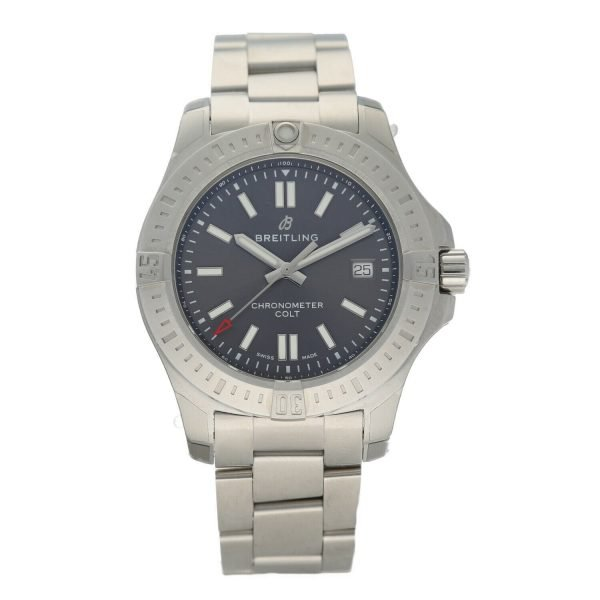 Breitling-A17313-Colt-Gray-Dial-Stainless-Steel-41mm-Automatic-Mens-Watch-133697249130