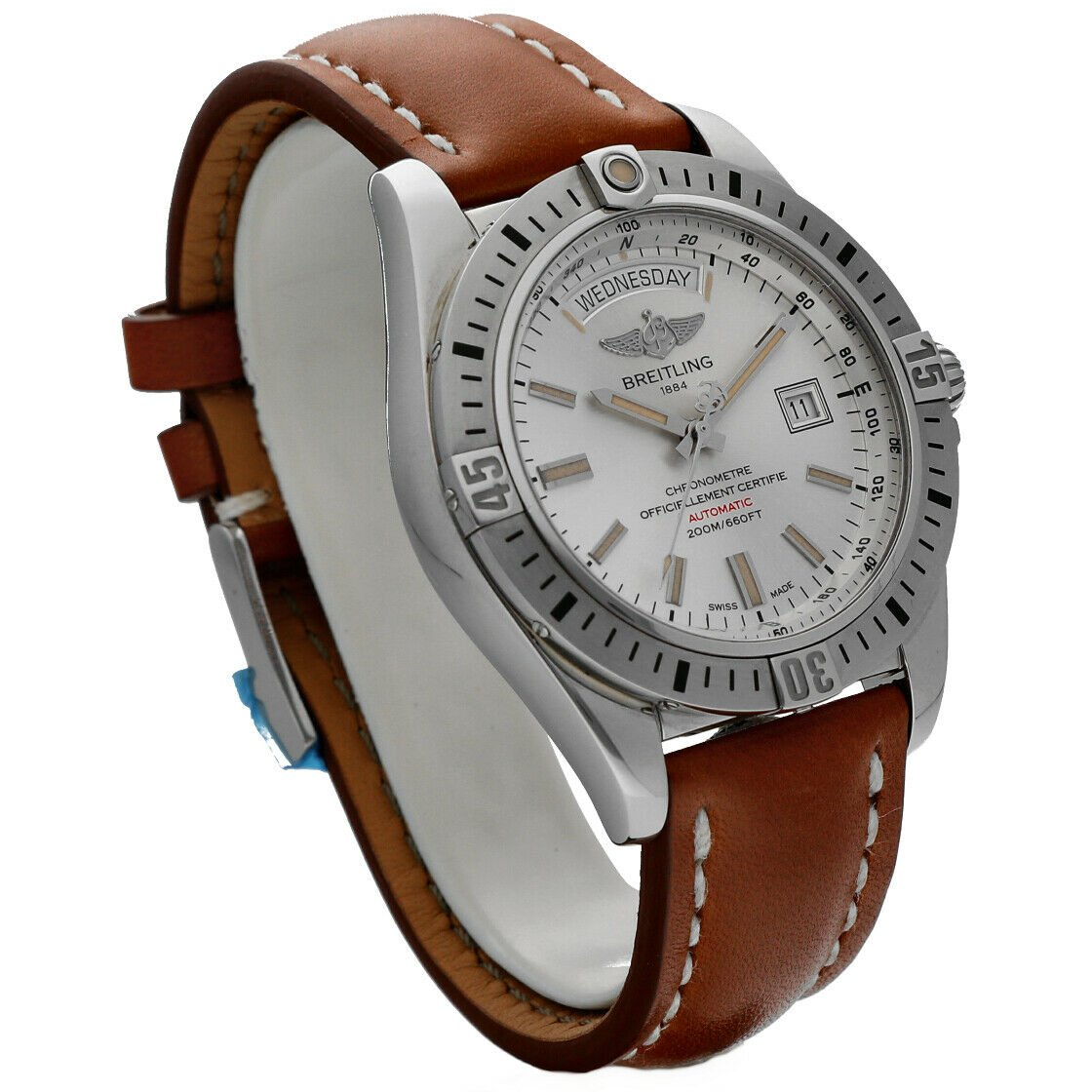 Breitling A45320 Galactic 44 Silver Dial Stainless Steel Automatic Mens Watch 114160975370 3