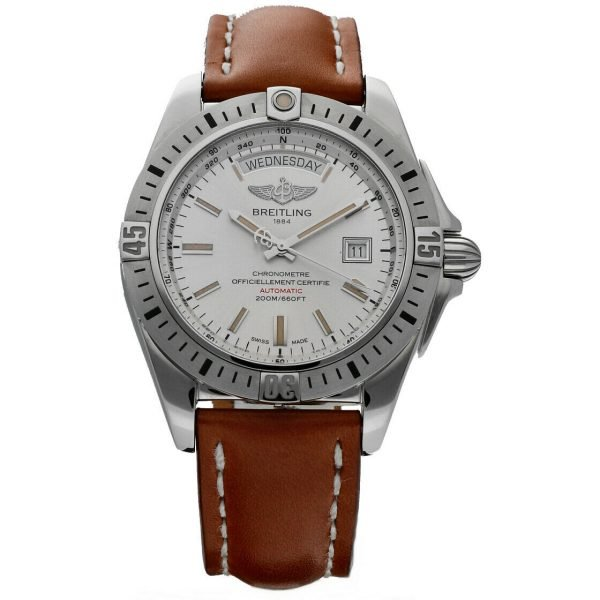 Breitling A45320 Galactic 44 Silver Dial Stainless Steel Automatic Mens Watch 114160975370