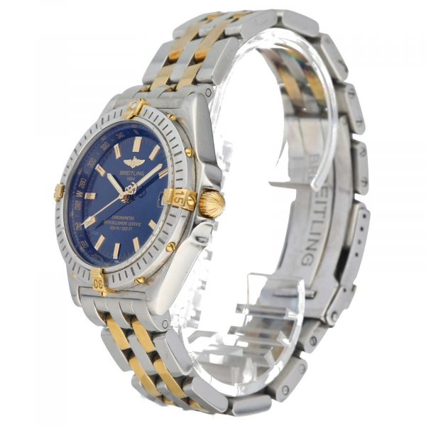 Breitling B10350 Chronometer Blue Dial 18k GoldSteel 38mm Automatic Mens Watch 114612769110 2