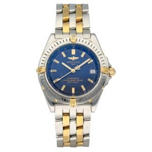Breitling B10350 Chronometer Blue Dial 18k GoldSteel 38mm Automatic Mens Watch 114612769110