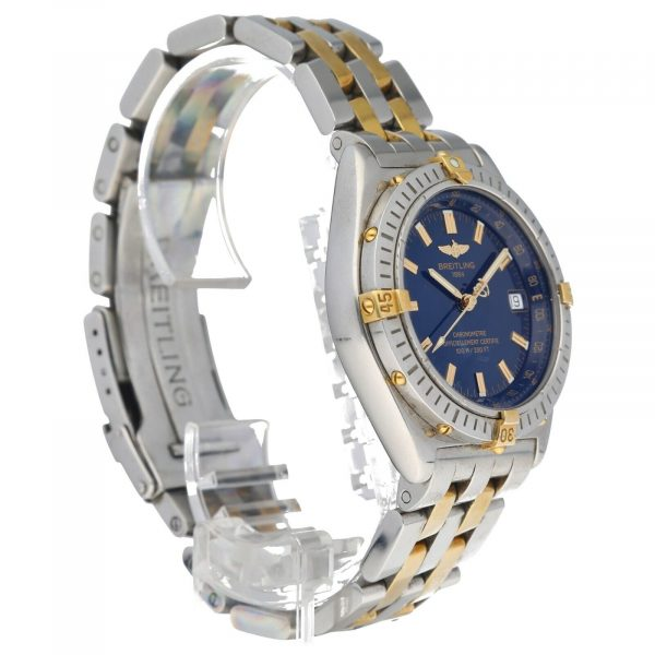 Breitling B10350 Chronometer Blue Dial 18k GoldSteel 38mm Automatic Mens Watch 114612769110 5