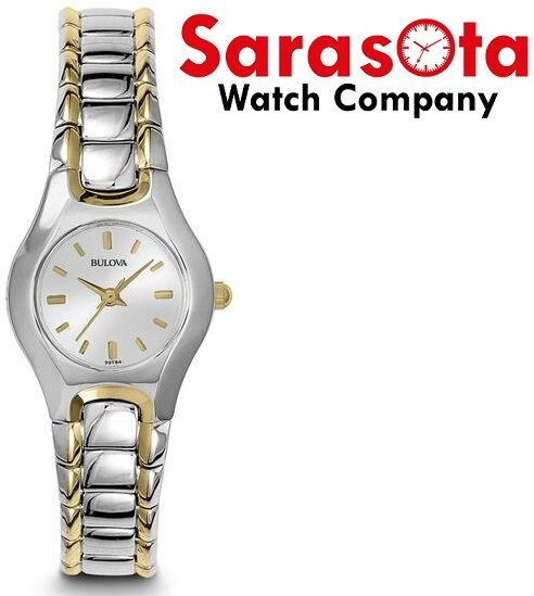 Bulova 98T84 Silver Dial Two Tone Stainless Steel Quartz Classic Womens Watch 124124942820