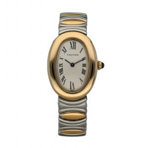 Cartier Baignoire 8057910 1750 18k Yellow Gold Steel Swiss Quartz Ladies Watch 114660905720