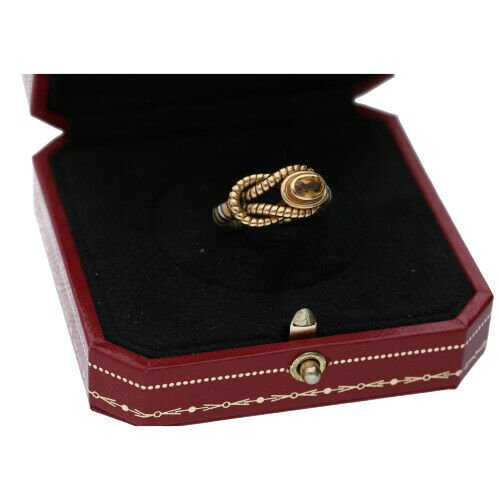 Cartier Hercules Knot Citrine 750 Yellow Gold Stainless Steel 65 Ladies Ring 122854524430 6