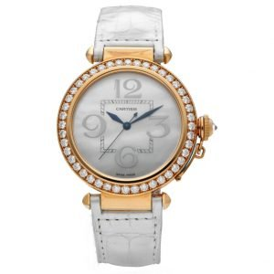 Cartier Pasha Large WJ124005 18k Rose Gold 42mm Diamonds Automatic Wrist Watch 133552237270