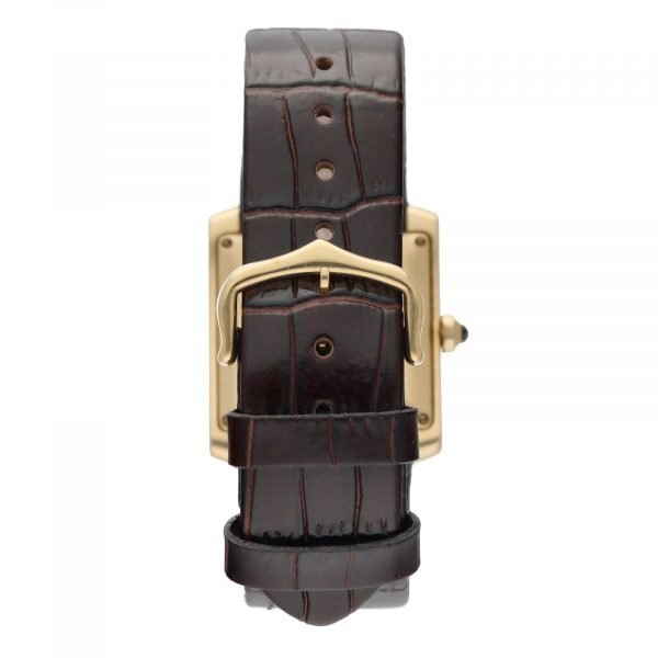 Cartier Tank Francaise 1840 18k Yellow Gold Leather Automatic Ladies Watch 124474688320 6