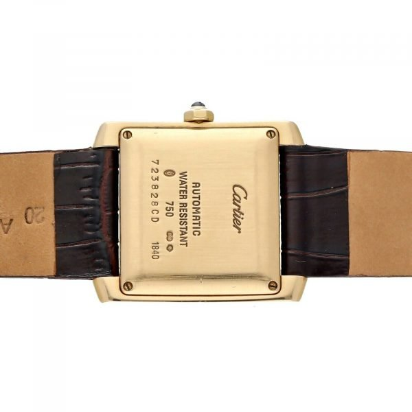 Cartier Tank Francaise 1840 18k Yellow Gold Leather Automatic Ladies Watch 124474688320 8