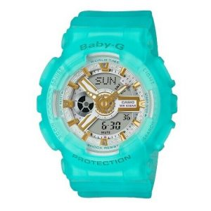Casio Baby G BA 110SC 2A Ana Digi Sea Glass Blue Turquoise Rubber Womens Watch 114616957180