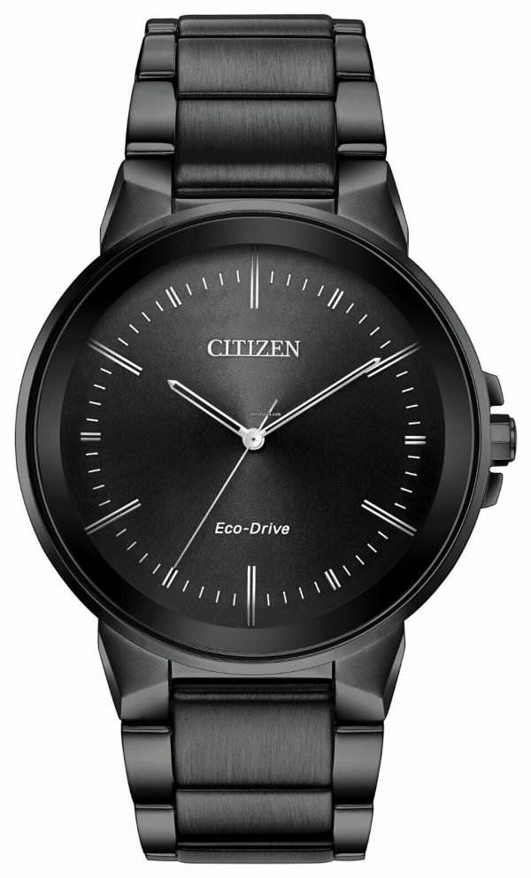 Citizen Eco Drive BJ6517 52E Axiom Black Stainless Steel Solar Mens Watch 124430774180