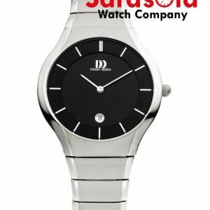 Danish Design IQ63Q943 Black Dial Titanium Quartz Classic Sapphire Mens Watch 112213447030