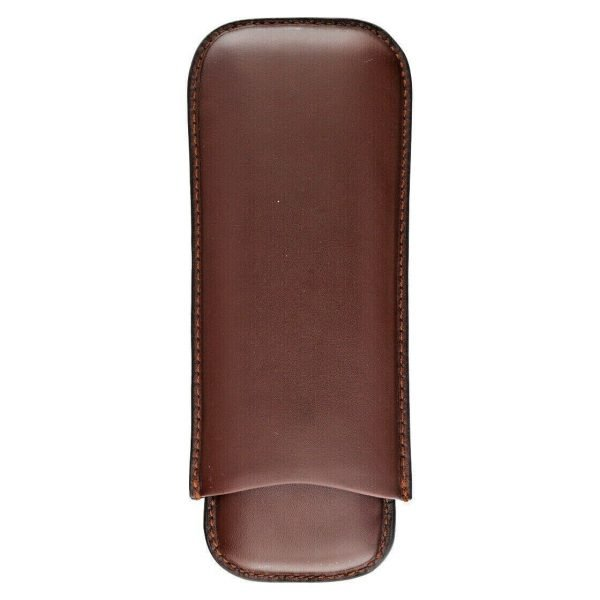 Dunhill Brown Genuine Calf Leather 2 Piece Cigar Case Holder 114497097480 3