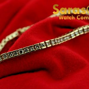 14k Yellow Gold 325ct G Color VS2 725 Diamond 4mm Width Tennis Bracelet 123499767901