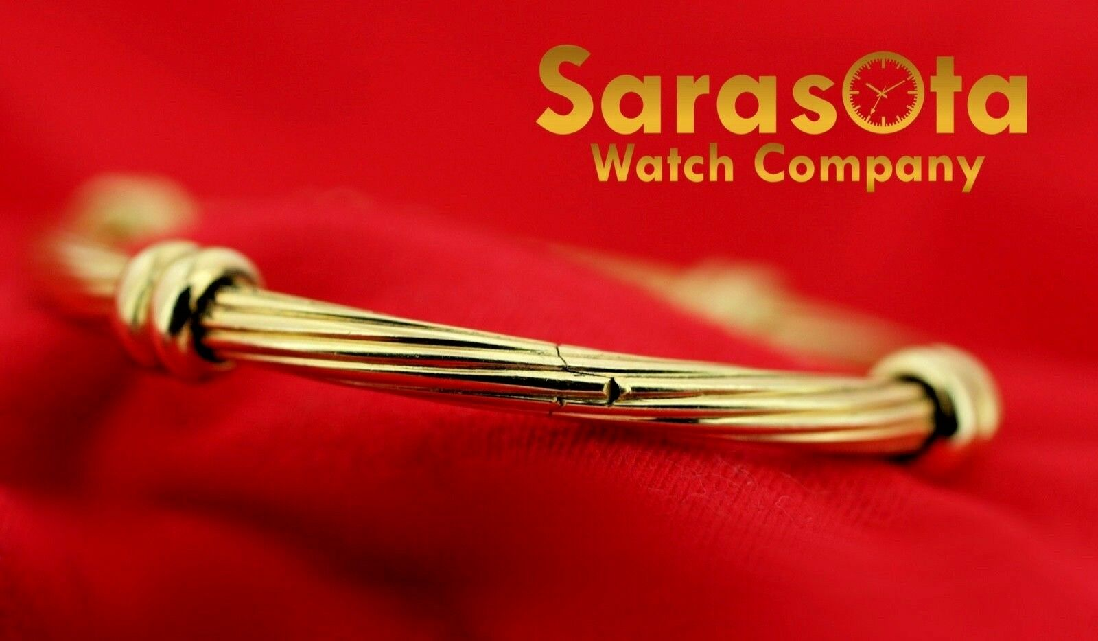 18k Yellow Gold Solid 4mm Polished Cable 4 Station Bangle Womens Bracelet 65 123576100641 2