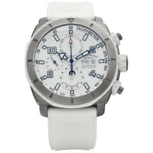 Armand Nicolet T616B AG 9610B Stainless Steel Ivory Rubber Automatic Mens Watch 133374798711