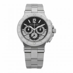 BVLGARI DG 42 S CH Calibro 303 Diagono Chronograph Steel Automatic Mens Watch 114309301201