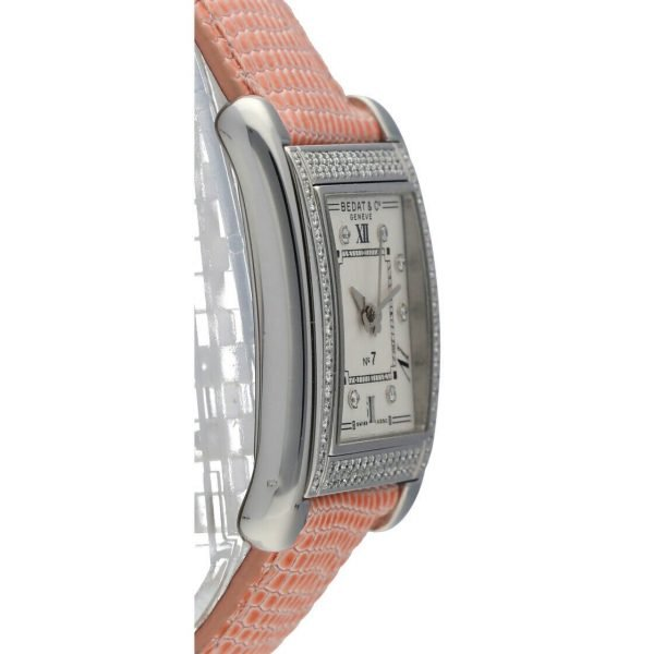 BedatCo N07 728 Diamonds Stainless Steel Tank Leather Automatic Womens Watch 124412103061 4