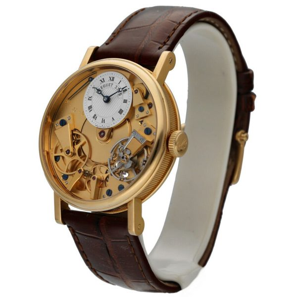 Breguet 7027BA1198 Tradition Skeleton Dial 18k Gold Leather Mens Watch 114449740791 2