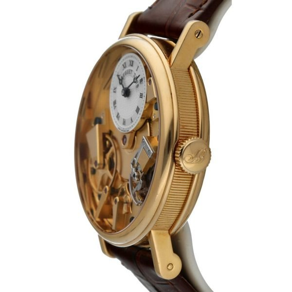 Breguet 7027BA1198 Tradition Skeleton Dial 18k Gold Leather Mens Watch 114449740791 3
