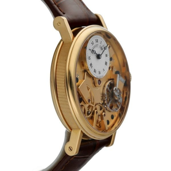 Breguet 7027BA1198 Tradition Skeleton Dial 18k Gold Leather Mens Watch 114449740791 4