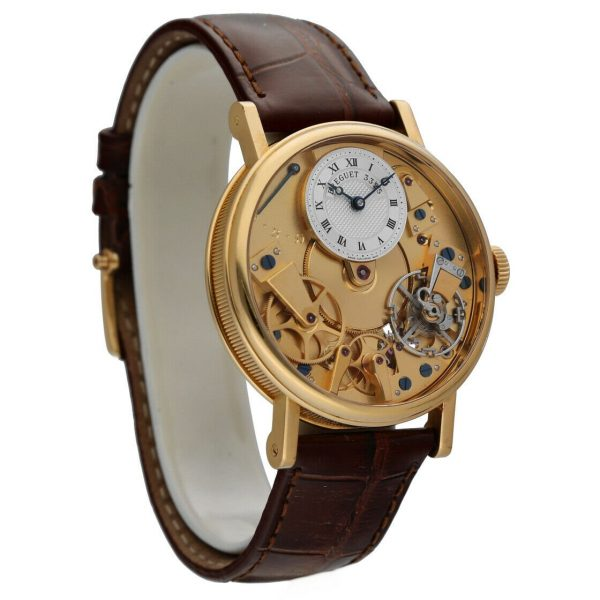 Breguet 7027BA1198 Tradition Skeleton Dial 18k Gold Leather Mens Watch 114449740791 5