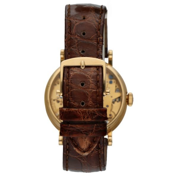 Breguet 7027BA1198 Tradition Skeleton Dial 18k Gold Leather Mens Watch 114449740791 6