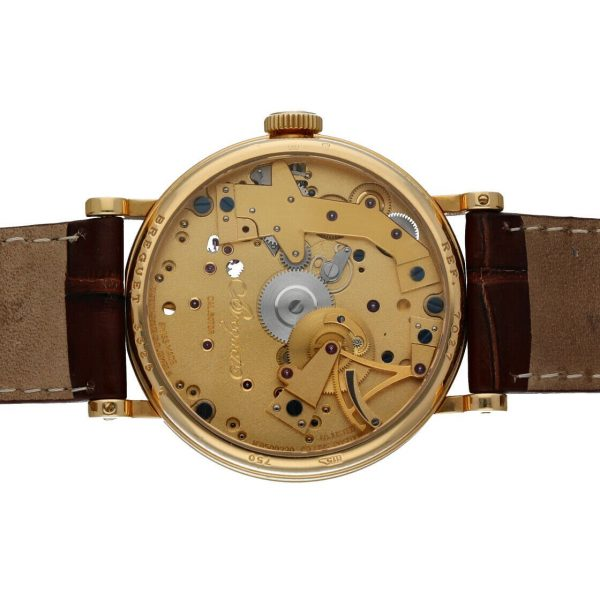 Breguet 7027BA1198 Tradition Skeleton Dial 18k Gold Leather Mens Watch 114449740791 8