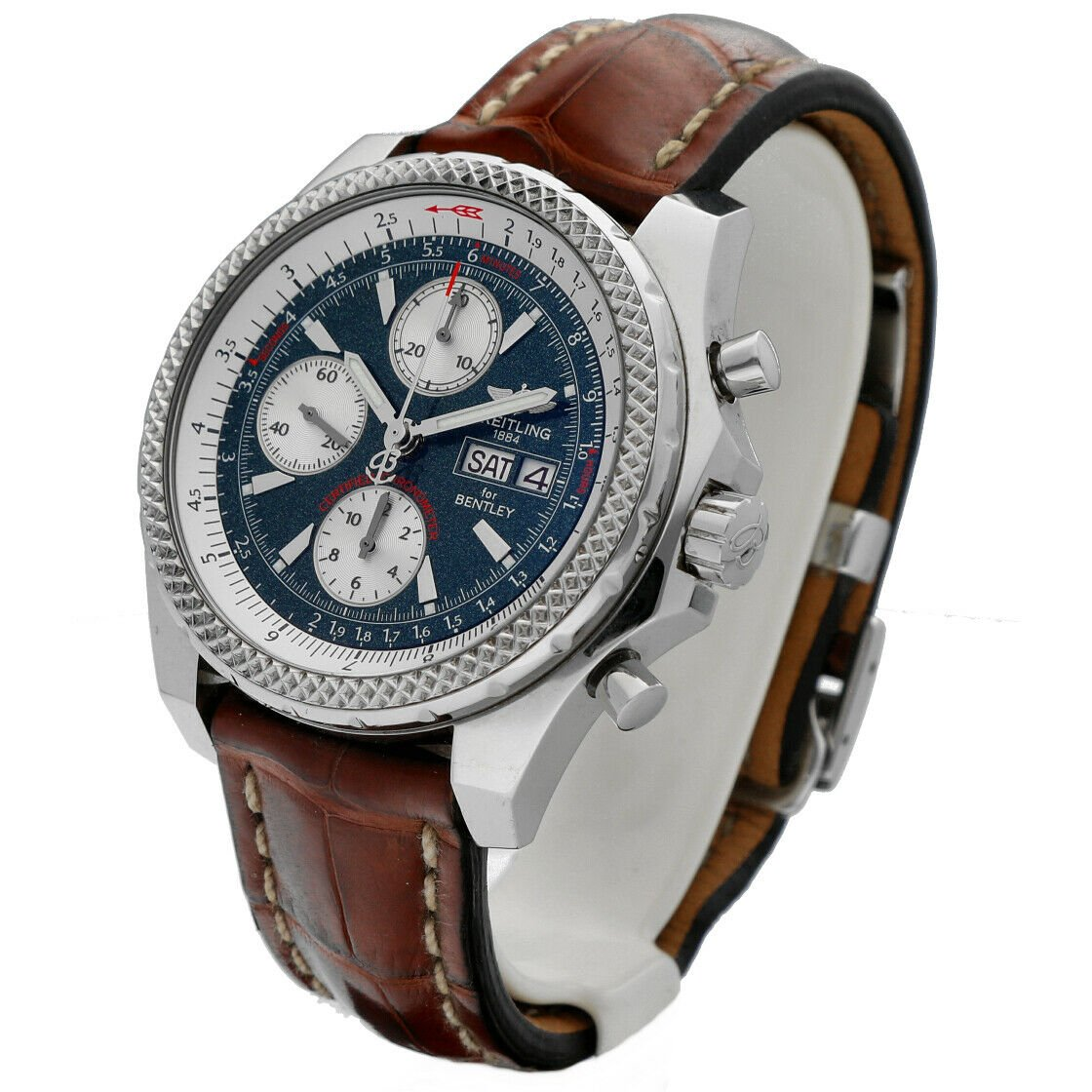 Breitling A13362 Bentley Green Dial 43mm Chrono Leather Automatic Mens Watch 133372522161 2